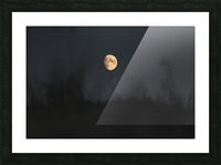 The moon Picture Frame print
