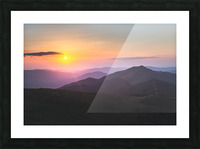 Pink sunset Picture Frame print