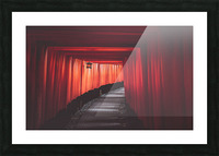 Fushimi red Picture Frame print