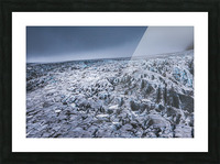 Field of ice Picture Frame print