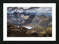 Surrounded by mountains Picture Frame print