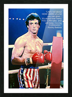 Rocky Sylvester Stallone Picture Frame print