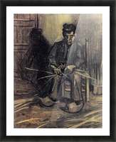Peasant Making a Basket by Van Gogh Picture Frame print