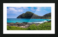 Hawaii Mountain Cliff on Coast Picture Frame print