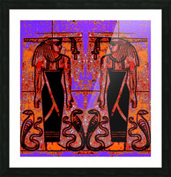 Egyptian Priests And Snakes In Garden 1 Picture Frame print