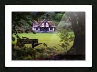 Craig-y-Nos Country park pavilion Picture Frame print