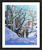 Montreal Winter Outremont Picture Frame print