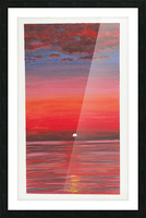Ruby Night  Picture Frame print