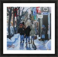 Montrel winter Scene, Ste-Catherine Picture Frame print