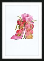Flower heel Picture Frame print