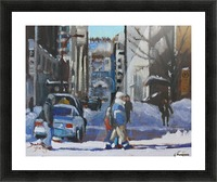 Montreal Winter Scene, Drummond Picture Frame print