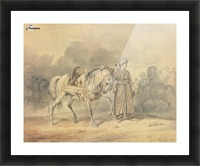 A Mameluk leading his horse Picture Frame print