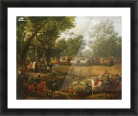 Napoleon on a Hunt in the Forest of Compiegne Picture Frame print