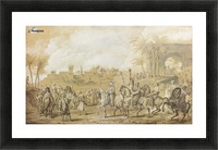 Mounted arabs Picture Frame print