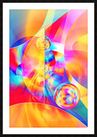 4th Dimension -Abstract Art XVII Picture Frame print