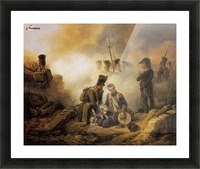 The Dog of the Regiment Wounded Picture Frame print