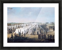 Army Camp in Rows 1831 Picture Frame print
