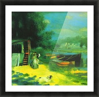 Place for Bading by Renoir Picture Frame print
