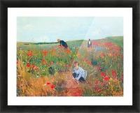 Poppy in the field by Cassatt Picture Frame print