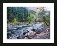 Old Pipeline Bed Trail Picture Frame print