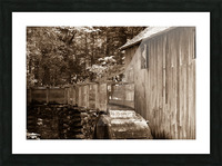 The John Cable Grist Mill Picture Frame print