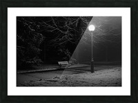 Winter night Picture Frame print