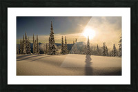 Trout lake BC Alpine sunset Picture Frame print