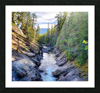 Icicle Gorge Trail Picture Frame print