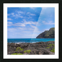 Hawaii Cliff and Coastline Square Panorama Picture Frame print