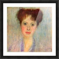Portrait of Gertha Fersovanyi (detail) by Klimt Picture Frame print