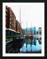 St Katharine Docks Boats 10 Picture Frame print