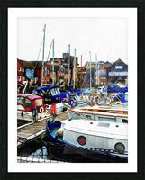 St Katharine Docks Boats 5 Picture Frame print