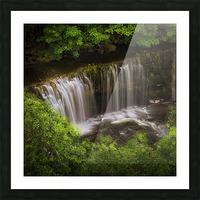 The Sgwd Isaf Clun-gwyn waterfall Picture Frame print