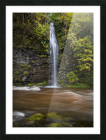 A waterfall on the river Tawe Picture Frame print