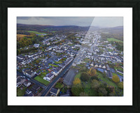 Rainclouds over Ystradgynlais Picture Frame print