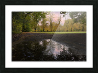 Autumn reflections in a field Picture Frame print