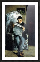 Portrait of Louis-Auguste Cezanne, the father of the artist, reading from L Evenement by Cezanne Picture Frame print