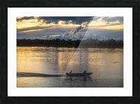 Araguaia River - Returning fishermen Picture Frame print