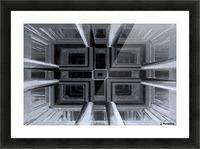 oben oder unten  Picture Frame print