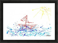 the red boat Picture Frame print