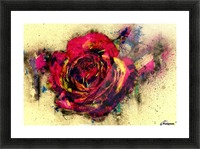 abstract rose Picture Frame print