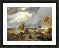 Surf on a Rocky Coast Picture Frame print