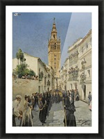 Easter Procession on Mateos Gago Street in Seville Picture Frame print