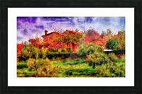 Sunset Autumn Color In Umbria Picture Frame print