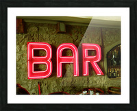 Bar Sign Picture Frame print