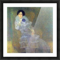 Portrait of Marie Henneberg (portrait in purple) by Klimt Picture Frame print