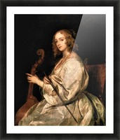 Portrait of Mary Ruthven, wife of the artist by Van Dyck Picture Frame print