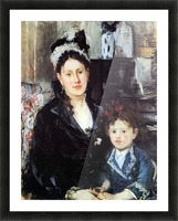 Portrait of Mme Boursier and Daughter by Morisot Picture Frame print