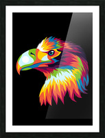 Bird of Prey in Colorful Pop Art Illustration Picture Frame print