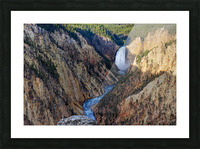 Yellowstone National Park Lower Falls Picture Frame print